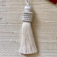 Houles OPALE Key tassel (white)