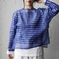 Tabrik  organdy  pullover (blue)
