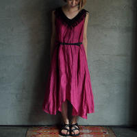 Tabrik silk linen one piece pink