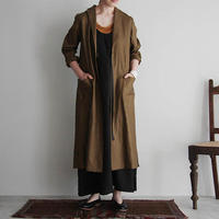 Tabrik coating linen coat khaki