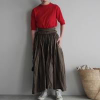 Tabrik gathered skirt (doro-zome)