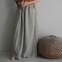 organic cotton long skirt ice gray
