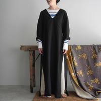 COUNTERPOINT linen dress (black)