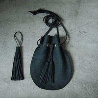 chiihao   round pochette charcoal
