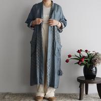 TOWAVASE sarasa silk robe (blue)