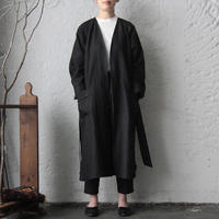 NOTA linen gown (black)