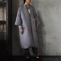 TOWAVASE silk quilt robe (gray)