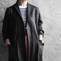 Tabrik coating linen coat black