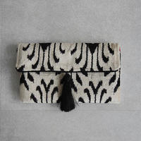 silk velvet clutch bag white