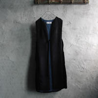 Tabrik alpaca shaggy gilet (black)
