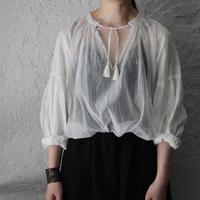 Tabrik bronze print blouse (white)