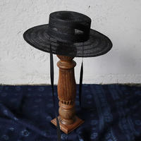 Mia Hat & Accessory lace canotier (black)