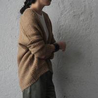 MAISON ANJE knit cardigan moka
