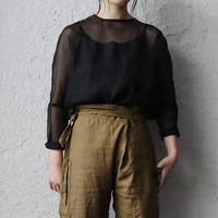 Tabrik  organdy  pullover (black)