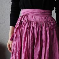 Tabrik gathered skirt (botanical dye pink)