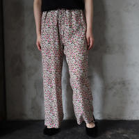 Le pivot flower print  rough pants (pink mix)