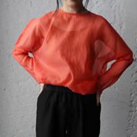 Tabrik  organdy  pullover (coral)