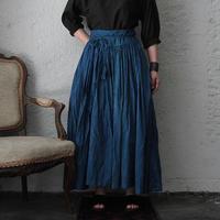 Tabrik gathered skirt (hon-aizome A)
