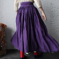 Tabrik gathered skirt (botanical dye violet)
