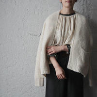 MAISON ANJE knit cardigan offwhite