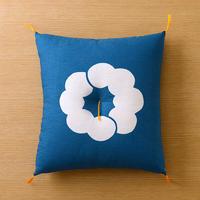 型染め本縫い小座布団 雲輪