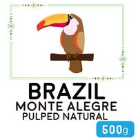 """""""500g""""  ブラジル  モンテ・アレグレ  パルプドナチュラル  (中煎り)"""