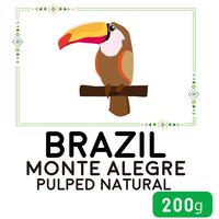 """""""200g""""  ブラジル  モンテ・アレグレ  パルプドナチュラル  (中煎り)"""