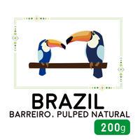 """200g"" ブラジル バヘイロ パルプド・ナチュラル"