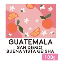 """""""100g"""" グアテマラ サンディエゴ ブエナビスタ ゲイシャ"""