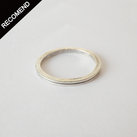 THEFT - narrow line silver ring