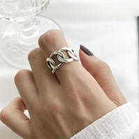 【web限定】j100.S925 wide chain ring