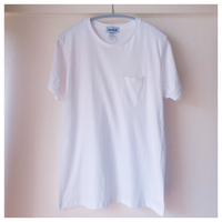 Tシャツポケット付き ホワイト無地