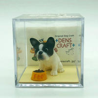Dog@CUBE 「WAIT!」フレンチブルドッグ(白黒パイド)【ドッグフィギュア】