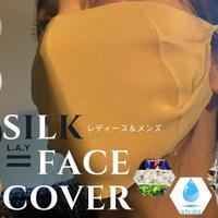 L.A.Y レディース メンズ 洗える フェイスカバー フェイスマスク シルク 美肌 絹100% 日焼けぼうし UVカット 紫外線 保湿 スポーツ&アウトドア