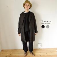 Honnete(オネット) Washed Twill Pants/ウールリネン ドロップヒップパンツ 20AW-P10