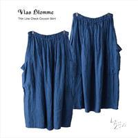 Vlas Blomme(ヴラスブラム)  Thin Line Check コクーンスカート 13539091