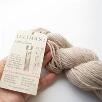 【4/25まで受注販売】】illimani『 LLAMA I 』ベビーリャマ100% De-haired Baby Llama/Worsted weight100gかせ