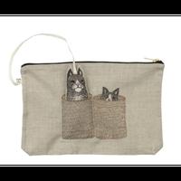 【3営業日以内に発送】Coral & Tusk/コーラル・アンド・タスク「Basket Cats with Cat Pal」猫モチーフ刺繍 ポーチ