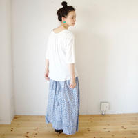 Vlas Blomme(ヴラスブラム)  Rayon Elder Flower Print 2Way スカート