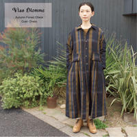 Vlas Blomme(ヴラスブラム)  Autumn Forest コートワンピース 13419701