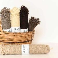 【3営業日以内に発送】dLana* Artisan Yarn / Rustic Wool(ラスティックウール)100g ボビン 無染色