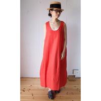 Honnete(オネット)NEW TANK DRESS リネン ノースリーブワンピース