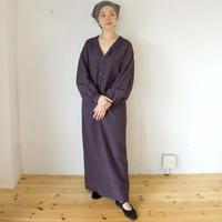 humoresque(ユーモレスク) リネンシルク ロングワンピース chelsea collar dress