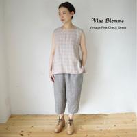 Vlas Blomme(ヴラスブラム)   Vintage Pink Check ノースリブラウス 13133701