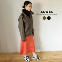 ALWEL (オルウェル)×DESCENTE(デサント):PADDED HIGHCOLLAR HALFZIP ハイネックハーフジッププルオーバー
