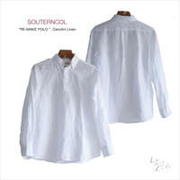 SOUTIENCOL  イタリアCANCLINI社製リネン「RE-MAKE POLO」ポロシャツ型 プルオーバーシャツ