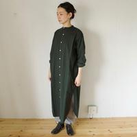 YARMO(ヤーモ)  Flannel Stripe Long Shirts / ストライプ ロングシャツ(ワンピース)
