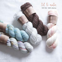 "【BLACK FRIDAY SALE ""DAYS】tot le matin (ト・ル・マタン): TOT DK  100% merino 100g"