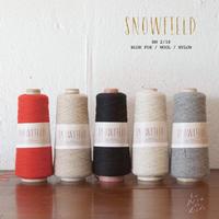 ブルーフォックス×ウール 紡毛糸「SNOWFIELD (スノーフィールド)」  2/18番手 100gコーン