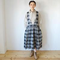 Vlas Blomme(ヴラスブラム)  Silk Linen チェック ジャンパースカート 13545501